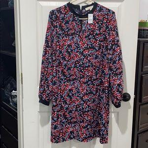 Ann Taylor loft floral shift dress